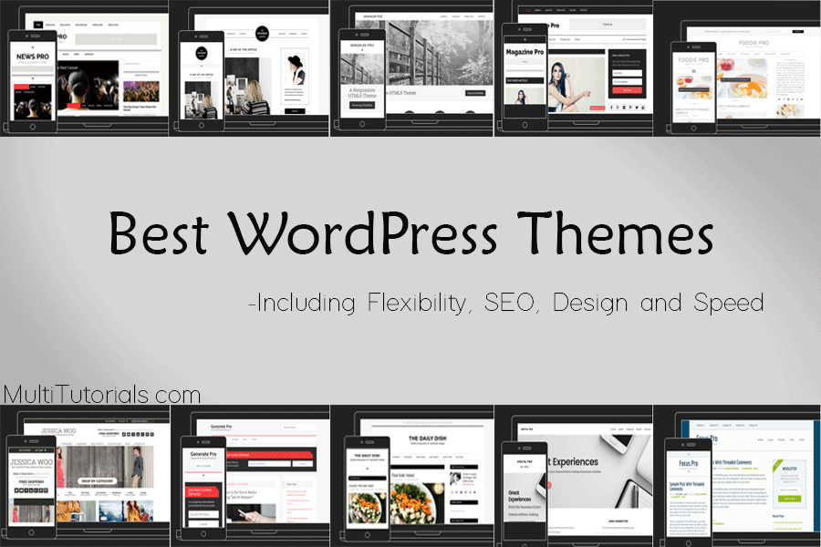 Top 10 Best WordPress Themes Including SEO, Speed, Design and Flexibility.