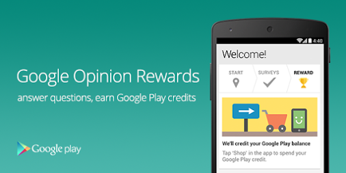 how to earn google play credits with google opinion rewards