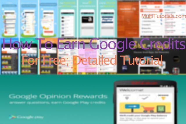 how to earn free google play credits