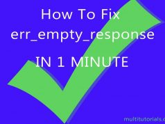 How To Fix No Data Received Err_Empty_Response