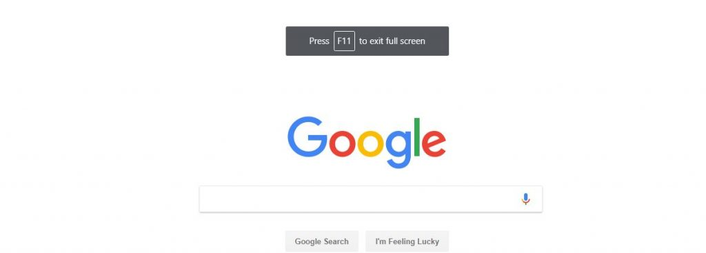 Go Full Screen in Chrome Browser